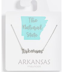 maurices womens dainty arkansas necklace gray