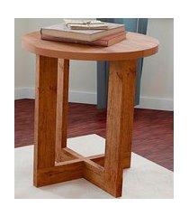 mesa lateral luxo 8002 caramelo madeirado casah