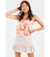 alyssa flounce blouse - multi