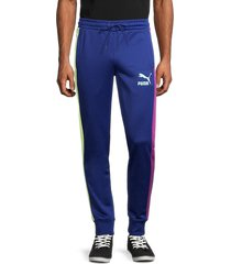 puma men's iconic t7 logo joggers - blue - size s