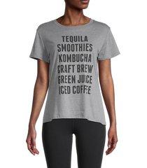 sub urban riot women's statement-print tee - heather grey - size xs