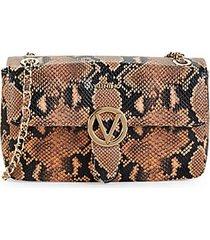 antoinette snakeskin embossed leather shoulder bag