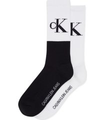 calvin klein jeans men's 2-pk. logo crew socks