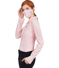 camisa  tapabocas mujer colección antiviral 07736