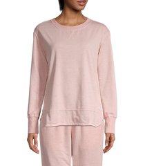 c & c california women's dropped-shoulder sweatshirt - misty rose - size m