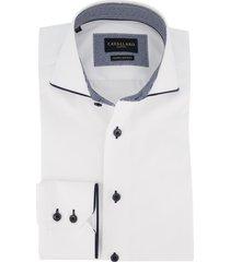 cavallaro mouwlengte 7 overhemd wit slanke fit