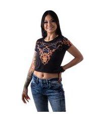 camiseta cropped feminina overfame barroco amuleto md02