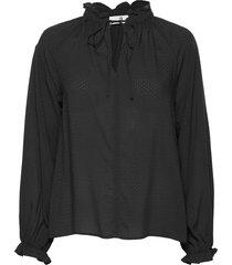 gaia solid blouse lange mouwen zwart arnie says