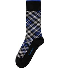 burlington socks cadogan black & blue 21046-3000