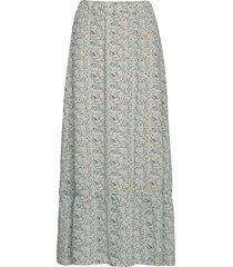 aurorasz maxi skirt lång kjol grön saint tropez