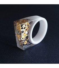 pierścionek z żywicy steampunk