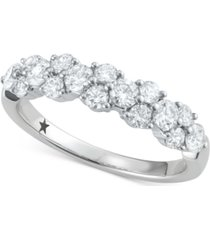 macy's star signature diamond garland cluster ring (1 ct. t.w.) in 14k white gold