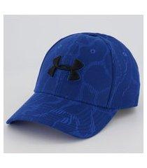 boné under armour printed blitzing azul
