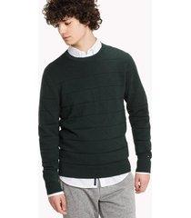 sweater de algodón texturizado verde tommy hilfiger