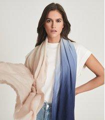 reiss isla - wool cashmere blend scarf in navy, womens