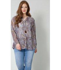 blouse sara lindholm cognac::blauw