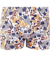 cueca boxer linha noite branco usa