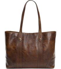 frye melissa leather shopper - brown