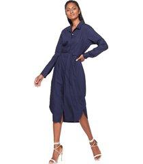 vestido azul navy gap