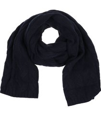 blue wool scarf