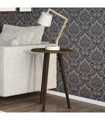 mesa de canto redonda brilhante 2074535 rústico - bechara móveis