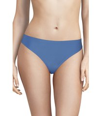 women's chantelle lingerie soft stretch thong, size one size - blue/green