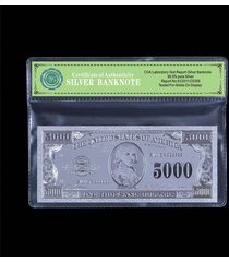 america $5000 dollar bill real 99.9 silver us banknote cool gift free coa folder