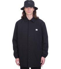 acne studios oscorda face casual jacket in black nylon