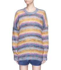 women multicolor striped mohair-blend oversized sweater