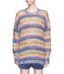 women multicolor striped mohair-blend oversized sweater