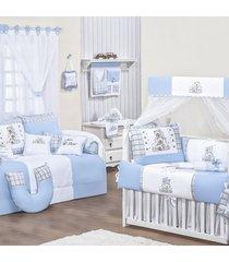 quarto completo padroeira baby amiguxos azul bebê