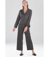 natori decadence pajamas / sleepwear / loungewear set, women's, grey, size m natori