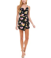 almost famous juniors' sleeveless asymmetrical romper