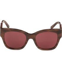 tod's women's 53mm square sunglasses - havana