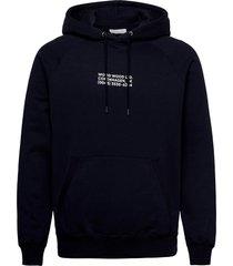 fred hoodie hoodie trui blauw wood wood