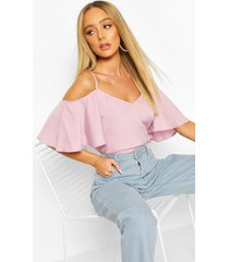 pastel cold shoulder cami top, lilac