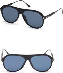 men's tom ford nicholai-02 57mm polarized aviator sunglasses -