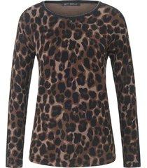trui met ronde hals en luipaardprint all-over van betty barclay multicolour