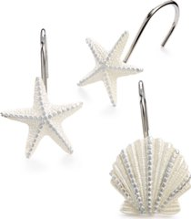 avanti bath, sequin shells shower curtain hooks bedding