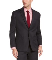 izod men's classic-fit charcoal sharkskin suit jacket