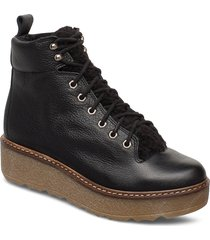 bex l shoes boots ankle boots ankle boots flat heel svart shoe the bear