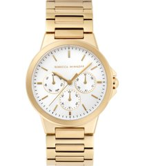 rebecca minkoff womens cali gold tone stainless steel bracelet watch 36mm