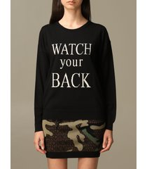 boutique moschino sweater watch your back boutique moschino pullover in virgin wool blend
