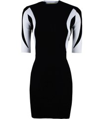 1017 alyx 9sm black rib knit turtleneck dress