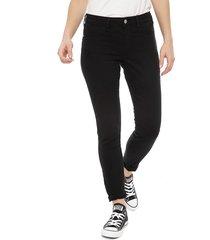 jeans jacqueline de yong 30 largo negro - calce skinny