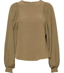 retta blouse lange mouwen groen mbym