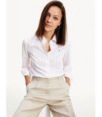 camisa en algodón de corte regular multicolor tommy hilfiger