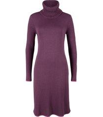 abito in maglia con bordi a contrasto (viola) - bpc bonprix collection