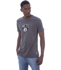 camiseta nba estampada vinil brooklin nets cinza - kanui