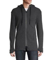 rnt23 men's full-zip hooded jacket - anthracite - size s